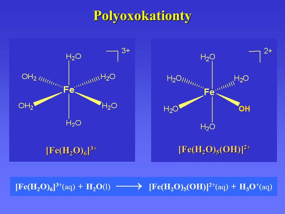 Polyoxokationty [Fe(H2O)5(OH)]2+ [Fe(H2O)6]3+